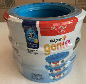 3pack Playtex Diaper Genie 270 Count Refill Cassettes(Total of 810)
