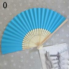 Chinese style Hand Held Fan Bamboo Silk Folding Fan Party Wedding Decor Paper SP