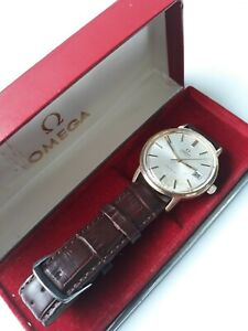 VINTAGE OMEGA GENEVE CAL.1012 GOLD PLATED AUTOMATIC; BOX