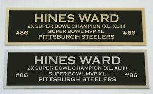 Hines Ward nameplate for signed autographed jersey football helmet or photo