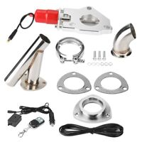 "2.25"" Universal Y-Pipe Car Modification Exhaust Cut Out Kit Remote Control"