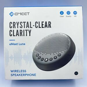 eMeet Luna Wireless Bluetooth Speakerphone Noise Reduction Crystal Clear Clarity