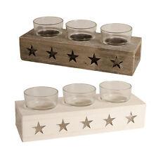 Deko-Kerzenständer & -Teelichthalter im Shabby-Stil aus Holz für Teelichter