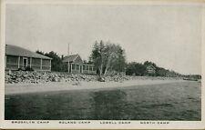 1933 Brooklyn Roland Lowell North Camp Shoreline Maine Me Postcard C3