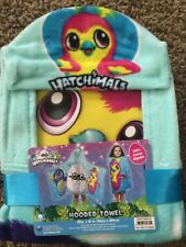 NEW Hatchimals Kids Hooded Cotton Towel Multi-Color Beach Lake Bath
