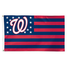 Washington Nationals Stars and Stripes Flag - Deluxe 3' X 5'