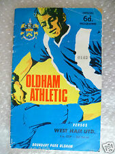 1965/66 OLD HAM ATHLETIC v WEST HAM UNITED (FA Cup 3rd RD)