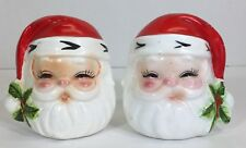 VINTAGE JOSEF? CHRISTMAS SANTA SALT & PEPPER SHAKERS