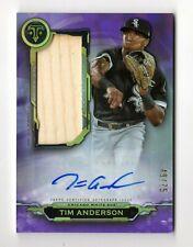 TIM ANDERSON MLB 2019 TRIPLE THREADS AUTO JUMBO RELICS AMETHYST #/75 (WHITE SOX)