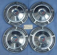 """3916496 Set of 4 1968 Chevy Chevelle 14"""" Stainless Full Wheel Covers Used OEM"""