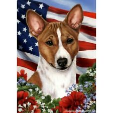 Patriotic (1) House Flag - Basenji 16172