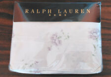 """RALPH LAUREN """"SOLANGE"""" NEW KING  FLAT SHEET-LAVENDER FLOWERS ON WHITE-SATEEN"""