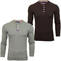 Superdry Mens Grandad T-Shirt 'Heritage Grandad' - Long Sleeved