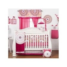 Crib Bedding Set Baby Girl 8Pc Fitted Sheet Bumper Diaper Stacker Multicolor