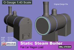 Railway -Static Steam Boiler -Wagon Load  scenery 7mm 0 Gauge diorama