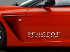 2x Door Sticker Fits Peugeot Motion & Emotion Side Decals Premium Qaulity RT72