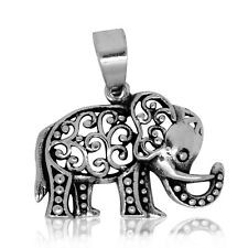 925 solid Sterling Silver  Lucky Elephant pendant