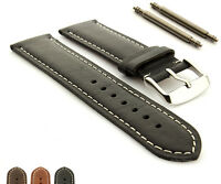 Extra Long Genuine Leather Watch Strap Band TWISTER Ss. Buckle Spring Bars