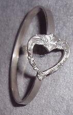Towle Sterling Silver 1977 Old Master Pattern Open Heart Bride Gift Bracelet