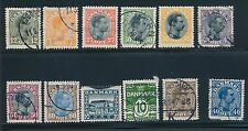 1913 - 1921 Denmark EARLY ISSUES (12); CV $68