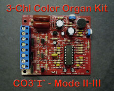 3 Channel Color Organ Kit - Improved Control - Light Organ Responds to Sound
