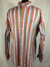 "Ralph Lauren button-front Shirt""Blake"" 100% Cotton Blue Striped GREAT COLLOR! M"
