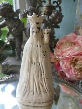 More details for a beautiful antique french ceramic crowned figurine ~ n.d de bonsecours