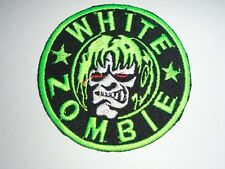 WHITE ZOMBIE IRON ON EMBROIDERED PATCH