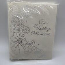 VTG CR Gibson Our Wedding Memories Book Album