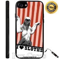 I Love Sloth Custom Case For iPhone 6S 7 Plus Samsung Galaxy S7 S8 Plus +STYLUS