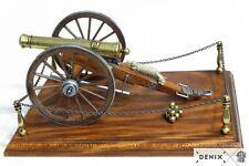 "Civil War Cannon 12 Pounder Metal Model 11"" w/ Base USA 1857 Field Artillery New"