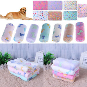 Pet Dog Soft Velvet Blanket Mat Puppy Cat Winter Bed Padded Kennel Cushion S/M/L