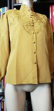 VINTAGE 80'S GOLD CUT OUT EMBROIDERED BLOUSE