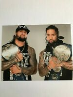 WWE NXT Jimmy & Jey The Usos Autographed 8x10 Photo Hand Signed Wrestling