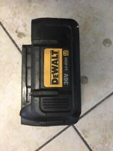 Genuine DeWalt 36V 2.0Ah Lithium Battery Li-ion DCB361 Used Hold Full Charge