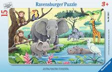 Rahmenpuzzle 15 Teile Ravensburger z.B. Biene Maja, Paw Patrol, Tiere Afrikas...