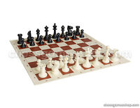 Chess set STAUNTON BLACK - chess pieces and board - Great gift set, KING 3""