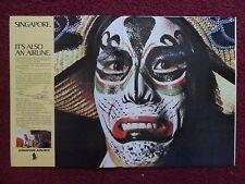 1973 Print Ad Singapore Airlines ~ Crazy Face Paint