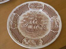 "7 Fair Winds Plates Alfred Meakin Staffordshire England Friendship of Salem 10+"""