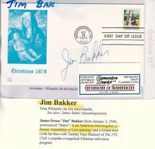 JIM BAKKER Televangelist Signed 1st Day Cover COA