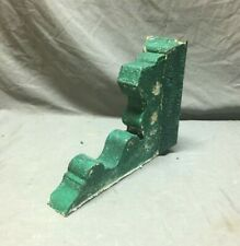 Single 1 Antique Wood Corbel Roof Bracket Victorian Shabby Green Vintage 765-20B