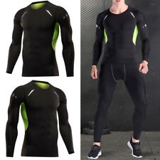 Men Compression Long Sleeve T Shirt Wicking Cool Dry Training Casual Gym Tops