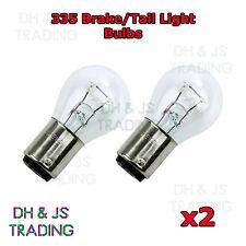 2 x 335 Stop/Indicatore Lampadine 12V 21W doppio contatto lampadina SBC BA15D