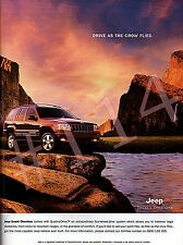 JEEP GRAND CHEROKEE with Quadra-Drive ADVERT - 2001 Car Advertisement
