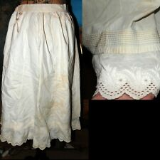 Antique Victorian Edwardian Embroidered Romantic Pleated Dress Petticoat-project