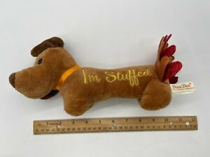 Dan Dee Collector's Choice Thanksgiving Dachshund Weiner Dog I'm Stuffed Plush