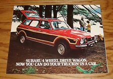 Original 1977 Subaru 4 Wheel Drive Wagon Sales Brochure 77