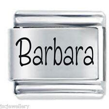 Barbara nombre-Daisy Dijes de JSC se adapta Classic Tamaño Italiano encanto pulsera