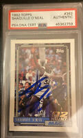 1992-93 Shaquille O'Neal  Signed Topps #362 RC PSA/DNA AUTO Rookie Card Full Sig