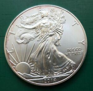 2014 USA 1 oz fine silver Eagle dollar coin #128